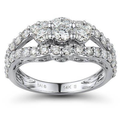 1.75 ct. t.w. Round Diamond Past, Present and Future Anniversary Ring in 14K White Gold