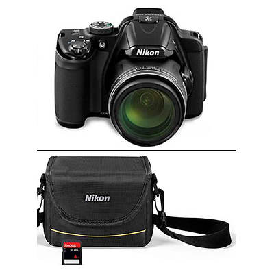 "Nikon COOLPIX P520 18MP 3.2"" LCD 42x Optical Zoom Digital Camera Bundle with 8GB SD Card"