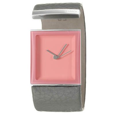 Philippe Starck Tailgate Women's Cuff Strap Watch in Stainless Steel
