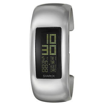 Philippe Starck Digital Women's Bangle Bracelet Watch in Aluminum - Silver