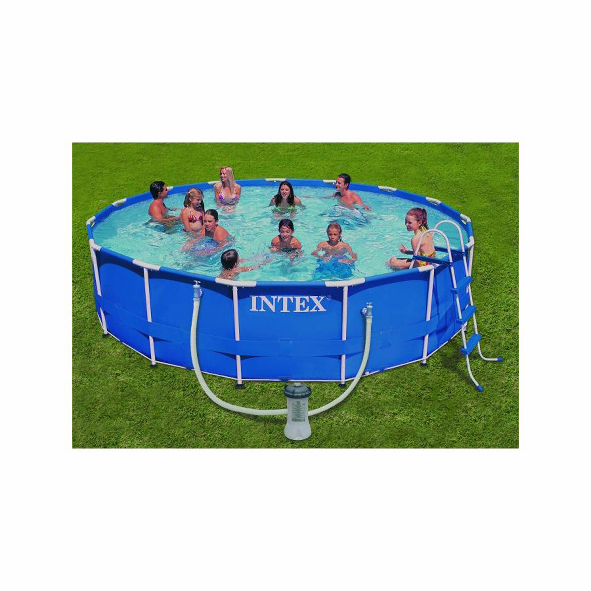 intex 15 x 42 round aboveground metal frame pool
