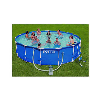 "Intex 15' x 42"" Round Aboveground Metal Frame Pool"