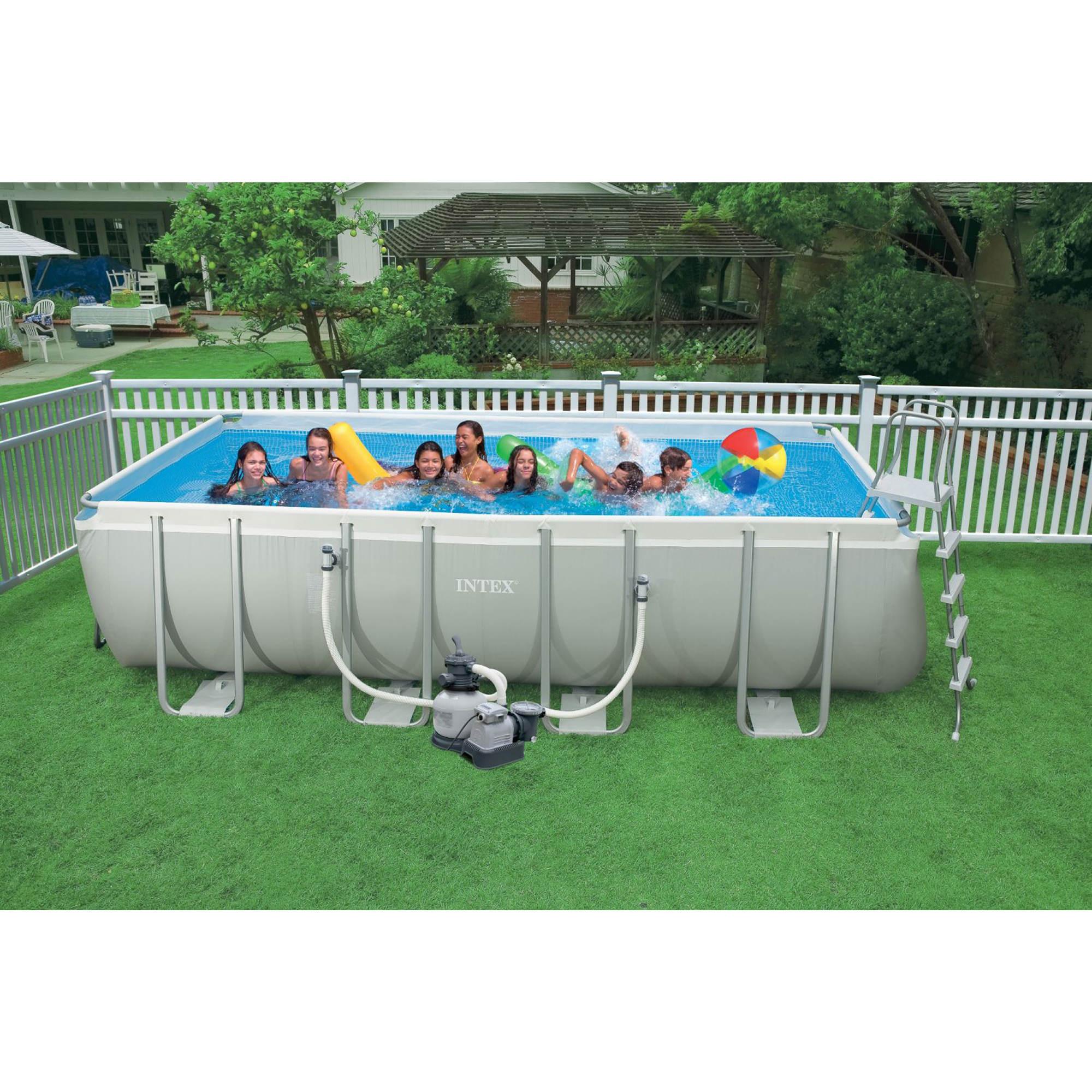 Intex 18 39 X 9 39 X 52 Rectangular Aboveground Ultra Frame Pool Bj 39 S Wholesale Club
