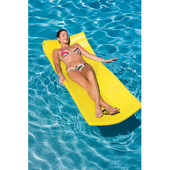 Ocean Blue Floating Foam Lounge - Yellow