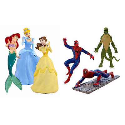 SwimWays Disney Princess and Spider-Man Dive Characters Combo Pack