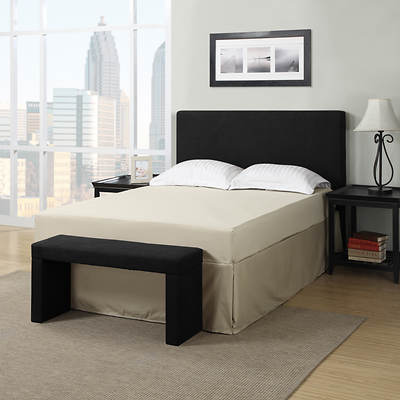 Handy Living Full/Queen-Size Headboard and Bench Set - Black