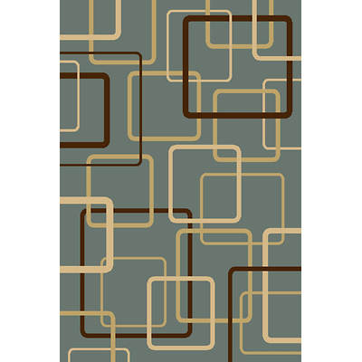 Interval Components 5' x 7'7 Rug - Blue