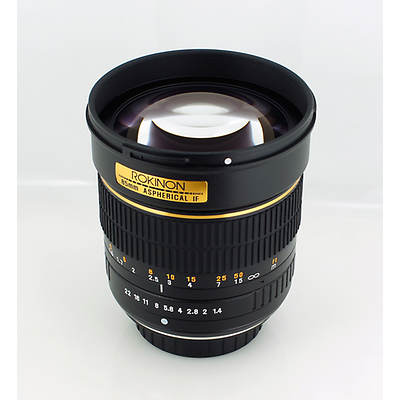 Rokinon 85mm f/1.4 Aspherical Lens for Nikon, Lens Cleaning Kit and 72mm UV filter