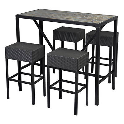 Sunjoy Mitchell 5-Piece High Dining Set