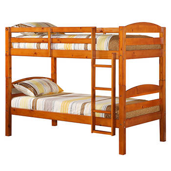 W. Trends Twin/Twin-Size Bunk Bed - Honey