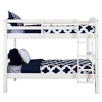 W. Trends Twin/Twin-Size Bunk Bed - White