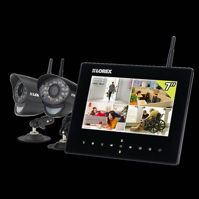 "Lorex Eco BlackBox Live SD+Series 4-Channel 7"" LCD 2GB SD Recorder Wireless Security System with 2 Night Vision Cameras"