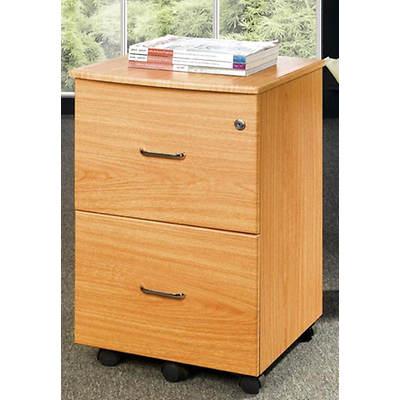Techni mobili 2 drawer rolling filing cabinet oak bj 39 s for Bj kitchen cabinets