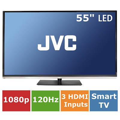 """JVC 55"""" LED HDTV 1080p 120Hz, Built-In Wi-Fi"""