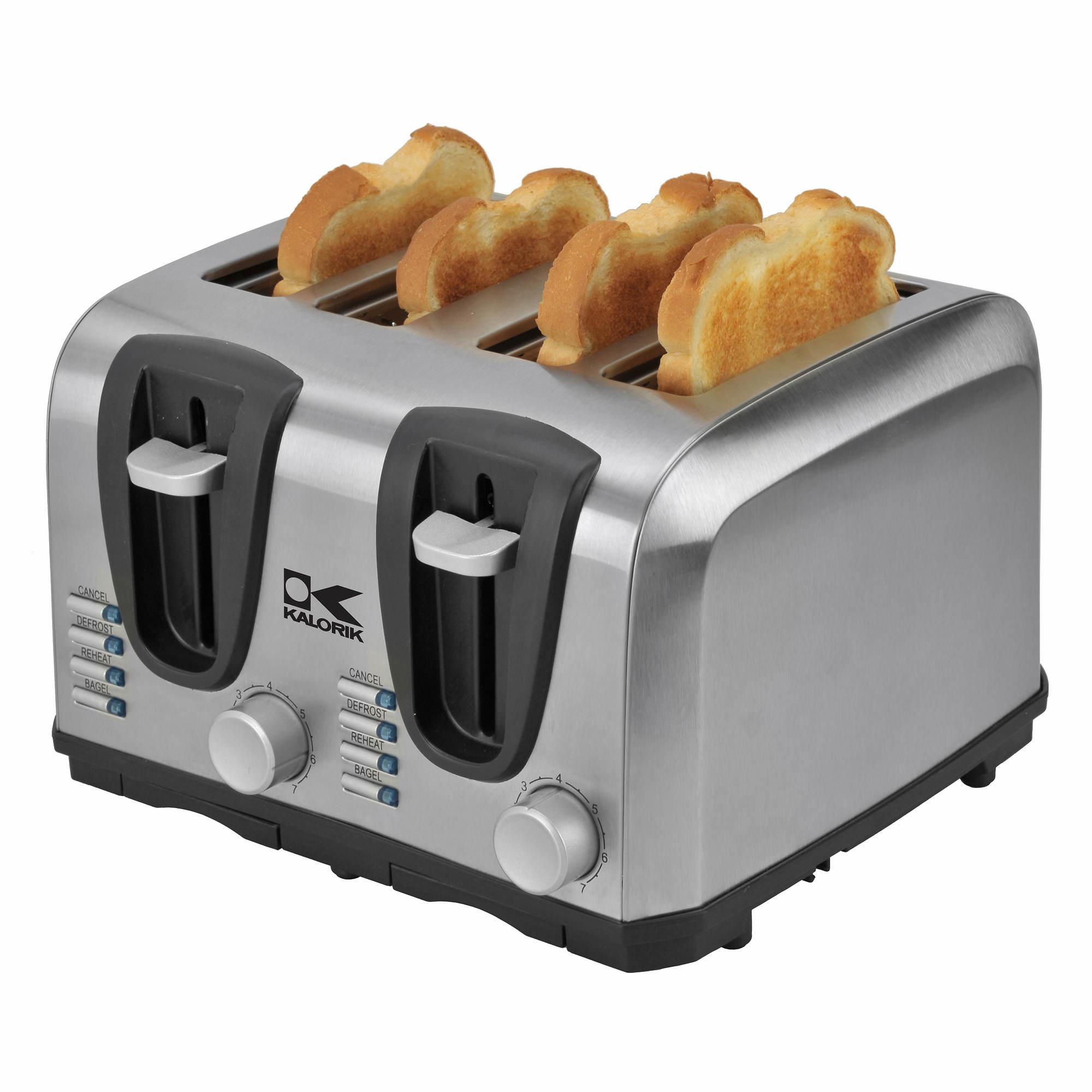 4 Slice Toaster ~ Kalorik slice stainless steel toaster bj s wholesale club