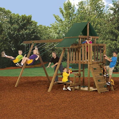 PlayStar Rival Factory Built Starter Swing Set
