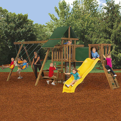 PlayStar Rival Factory Built Silver Swing Set