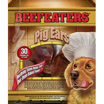 Beefeaters Pigs Ears for Dogs, 30 Count