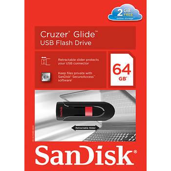 SanDisk Cruzer Glide 64GB USB Flash Drive with Web Storage
