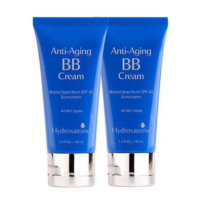 Hydroxatone Anti-Aging BB Cream Broad Spectrum SPF 40 Sunscreen, 1.5 Fl. Oz., 2-Pk - Universal Tone