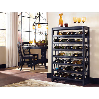 Point South Furnishings Mendocino Wine Rack - Rustic Grey