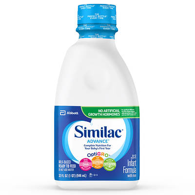 Similac Advance Ready to Feed Infant Formula, 32 Fl.Oz., 8-Pk