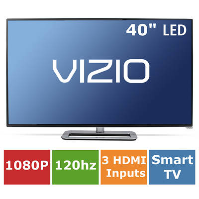 "Vizio M-Series Razor 40"" Smart LED 1080p 120Hz Wi-Fi Vizio Apps Plus"