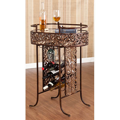 SEI Autumn Wine Storage Table - Bronze