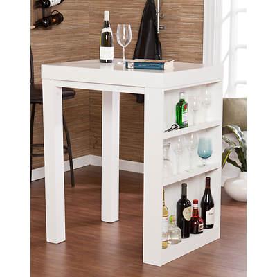 SEI Arden Bar Table - White