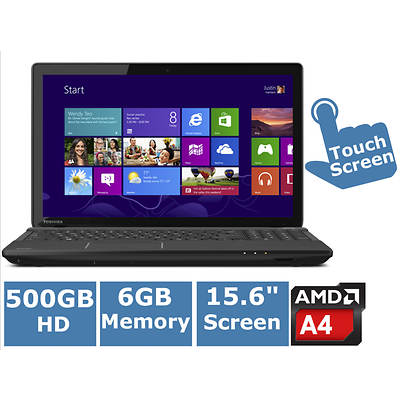 Toshiba Satellite C55Dt-A5233 Laptop, 1.5GHz AMD Quad Core A4-5000 Accelerated Processor