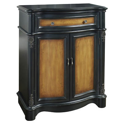 Home Meridian Lucas Hall Chest - Black/Brown