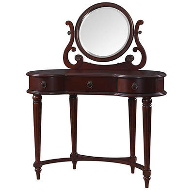 Bombay Empress Vanity and Mirror - Vintage Mahogany
