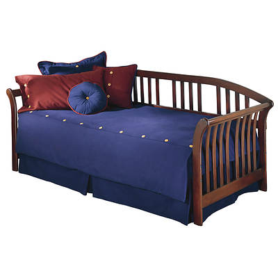 Leggett & Platt Fashion Bed Salem Daybed with Link Spring and Pop-Up Trundle - Mahogany