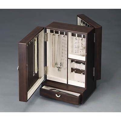 HomePointe Revolving Wooden Jewelry Box - New Java