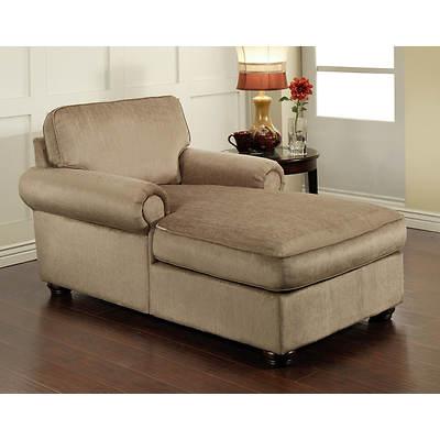 Abbyson Living Clara Chaise Lounge - Platinum Beige