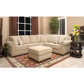 Abbyson Living Isabella 2-Piece Sectional Set - Beige