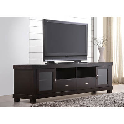 "Abbyson Living Santiago 65"" Wide Entertainment Center - Dark Brown"