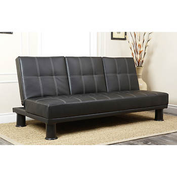 Abbyson Living Montgomery Convertible Sofa - Black