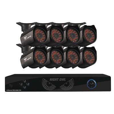 Night Owl 8-Channel H.264 DVR with 1TB Hard Drive and 8 High-Resolution Night Vision Cameras  (2 with Audio)
