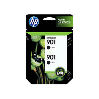 HP 901XL Black Ink Cartridges, 2 Pack