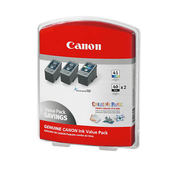 Canon iPG-40 and CL-41 Combo Ink Cartridges, 3 Pack