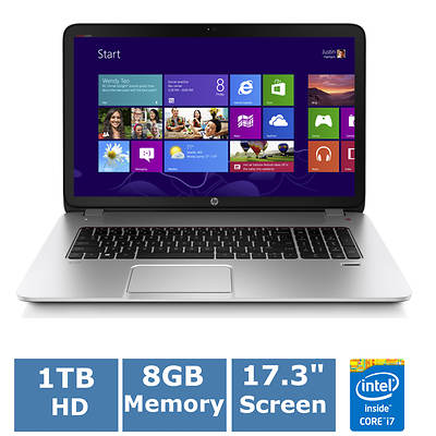 HP Envy 17-j020us Laptop, 2.4GHz Intel Core i7-4700MQ Processor