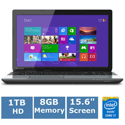 Toshiba Satellite S55-A5275 Laptop, Up to 3.4GHz Intel Core i7-4700MQ Processor