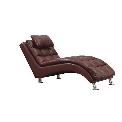 monarch bonded leather chaise lounge red bj 39 s
