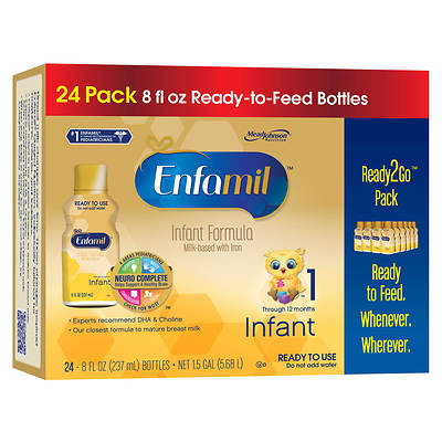 Enfamil Premium Ready-to-Use Liquid Infant Formula, 8 Fl. Oz., 24-Pk