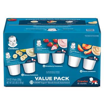 Gerber Yogurt Blends Snack Assortment, 12 pk./3.5-oz.