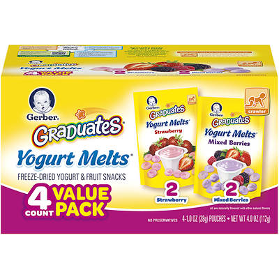 Gerber Graduates Yogurt Melts Freeze-Dried Yogurt & Fruit Snacks, 4-Oz., 4-Pk