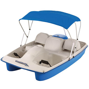 Sun Dolphin Water Wheeler ASL 5-Person Pedal Boat with Canopy - Blue