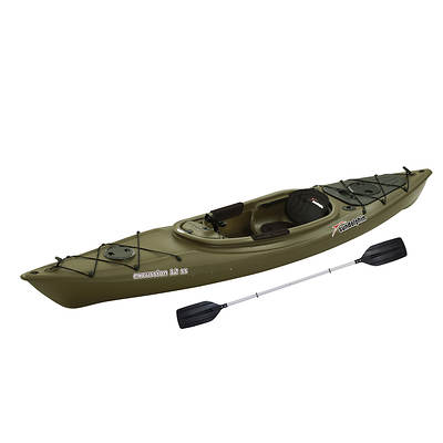Sun Dolphin Excursion 12 SS 12' Adult Sit-In Fishing Kayak with Paddle