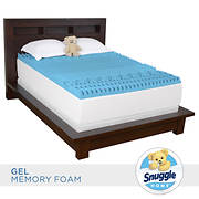 "Snuggle Home Full Size 3"" Gel Memory Foam 7-Zone Mattress Topper with"